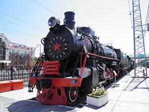 Паровозы в музее железнодорожной техники