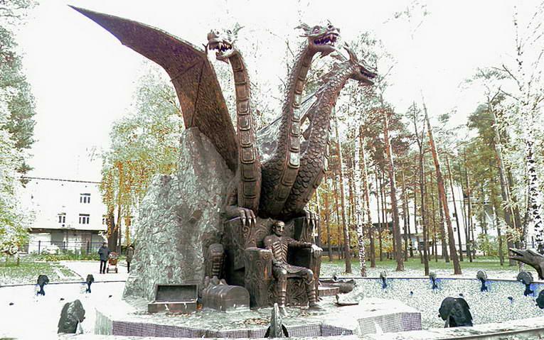 Фонтан со Змеем Горынычем