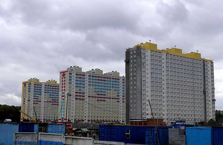Строящееся жилье в Новосибирске