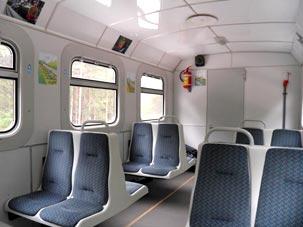 Вагон поезда Детской железной дороги