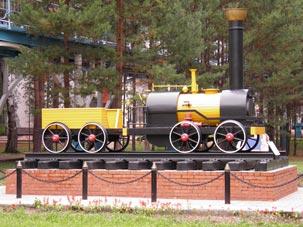 Паровоз в Заельцовском парке