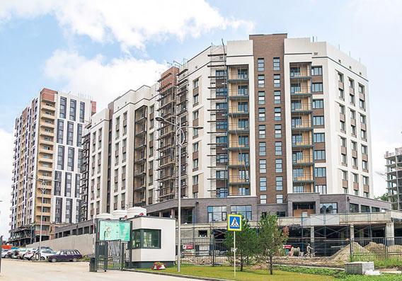 Никольский проспект, 12 (5-й микрорайон, 1 стр) фото со стройки лето-осень 2020