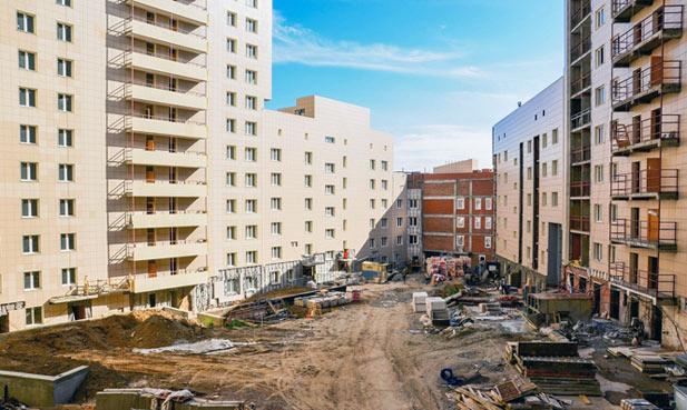 Тульская, 80, 82 стр фото со стройки лето-осень 2020