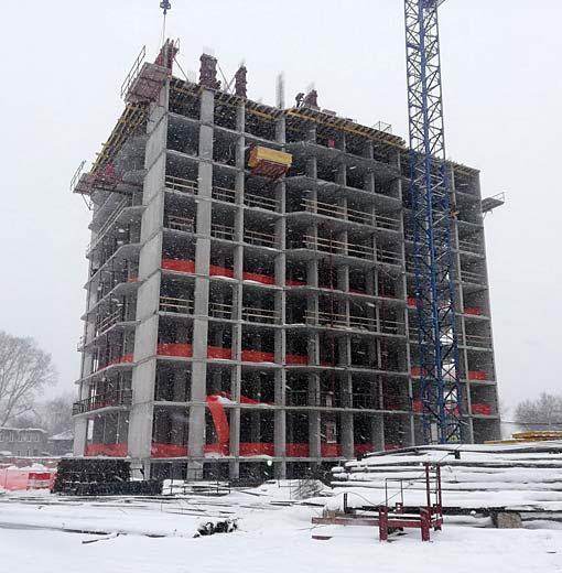 Гурьевская, 1 стр фото со стройки зима 2019