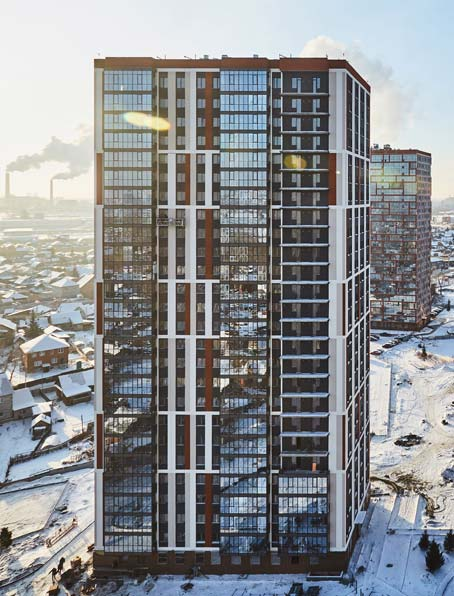 Чулымская 1-я, дом №11  (112/5 стр) фото со стройки зима 2019