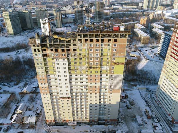 Кавалерийская, третья очередь фото со стройки зима 2019