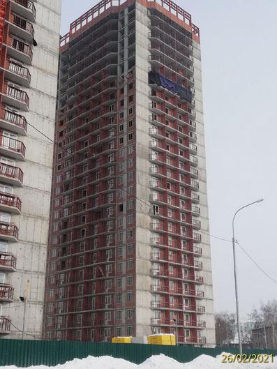 Гурьевская, 181 к1 (2 стр), 181 к3 (3 стр) фото со стройки март 2021