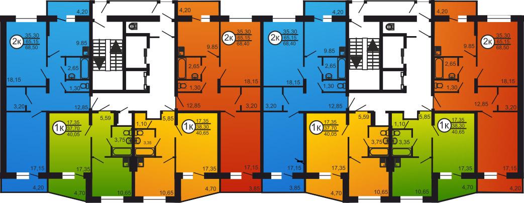 Волховская, 37 к4, общий план этажа