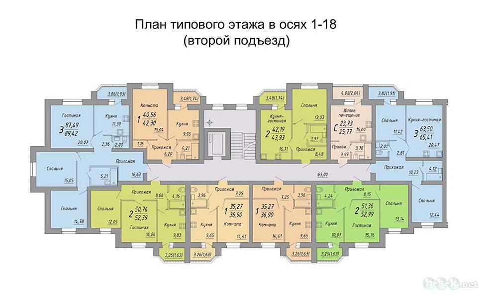 Планировки квартир рассветная, 3 (4-й микрорайон, 9 стр).