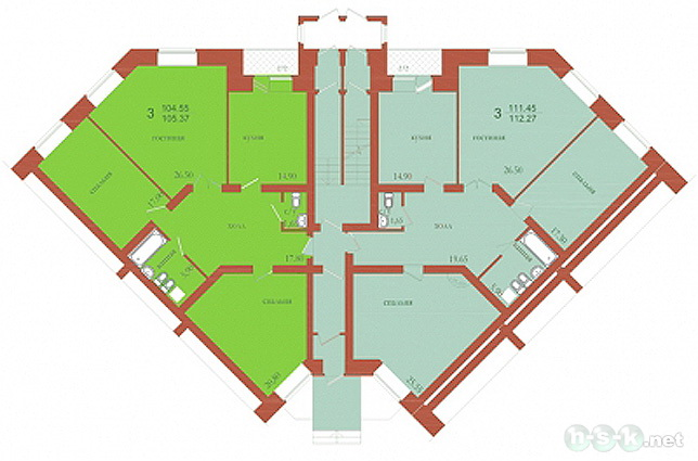 Мочищенское 1-е шоссе, 150 (Мочищенское шоссе, 29 стр), общий план этажа