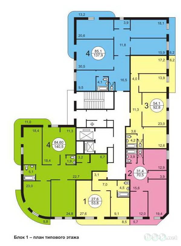 Салтыкова-Щедрина, 128 стр, общий план этажа