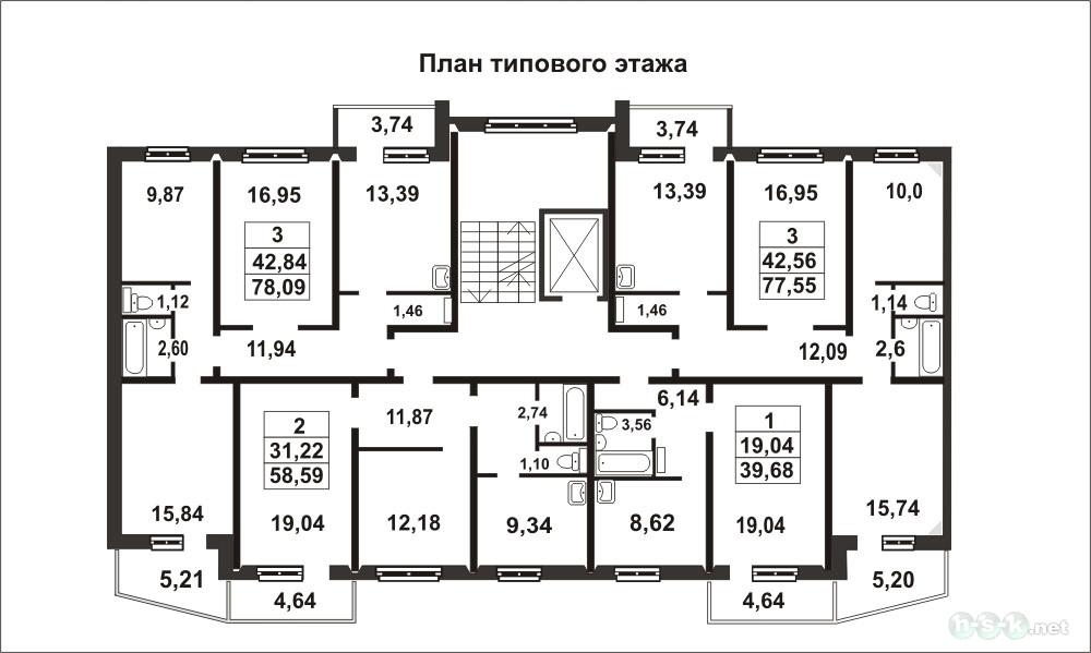 Планировки квартир динамовцев, 17.