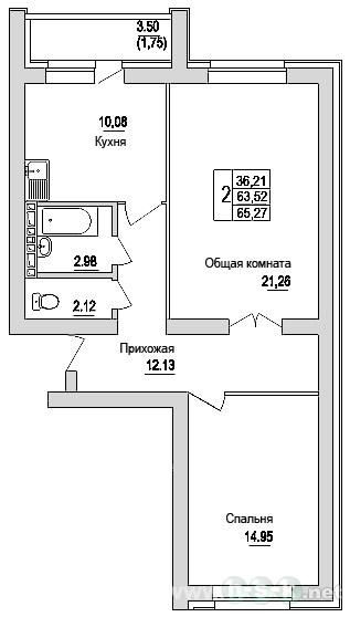 Зорге, 92, планировки 2-комнатных квартир