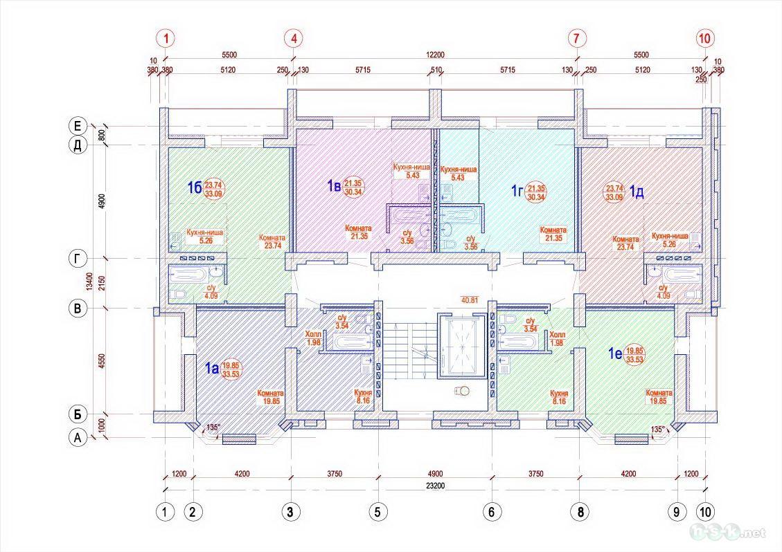 Республиканская, 10/1 (12/1), общий план этажа