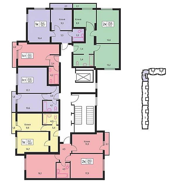 Большая, 600/13 дом 1 (высотки), общий план этажа