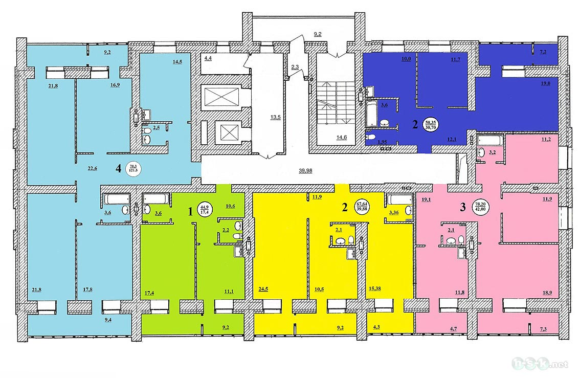Каменская, 56/2 (56/1 стр), общий план этажа