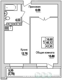 Зорге, 92, планировки 1-комнатных квартир