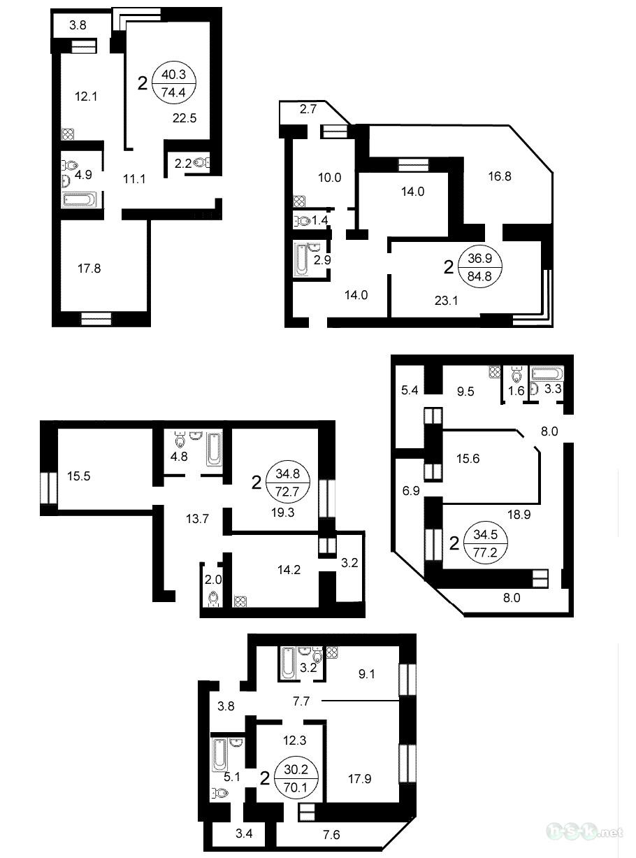 Перепланировка однокомнатной квартиры проекты - Сделай