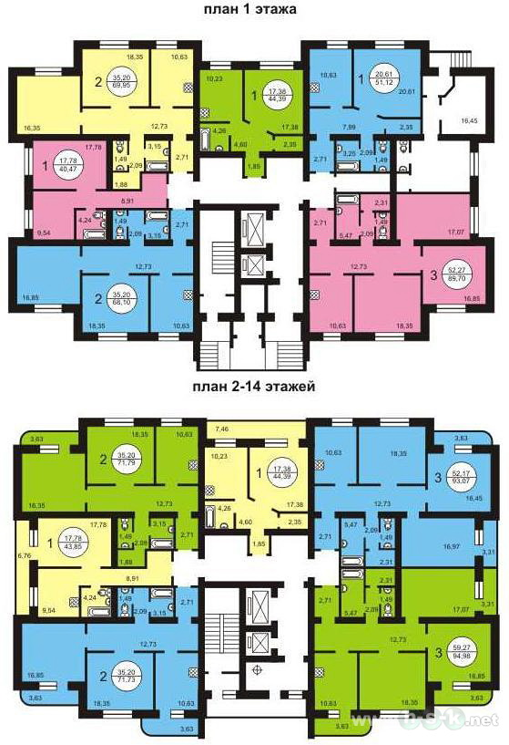 Менделеева, 11, общий план этажа