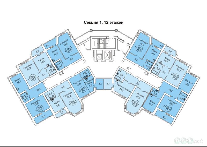 Краснообск, Западная, 228, общий план этажа