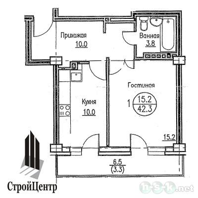 Гоголя, 51, планировки 1-комнатных квартир