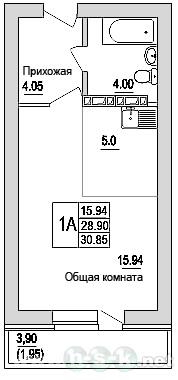 Зорге, 96, планировки 1-комнатных квартир