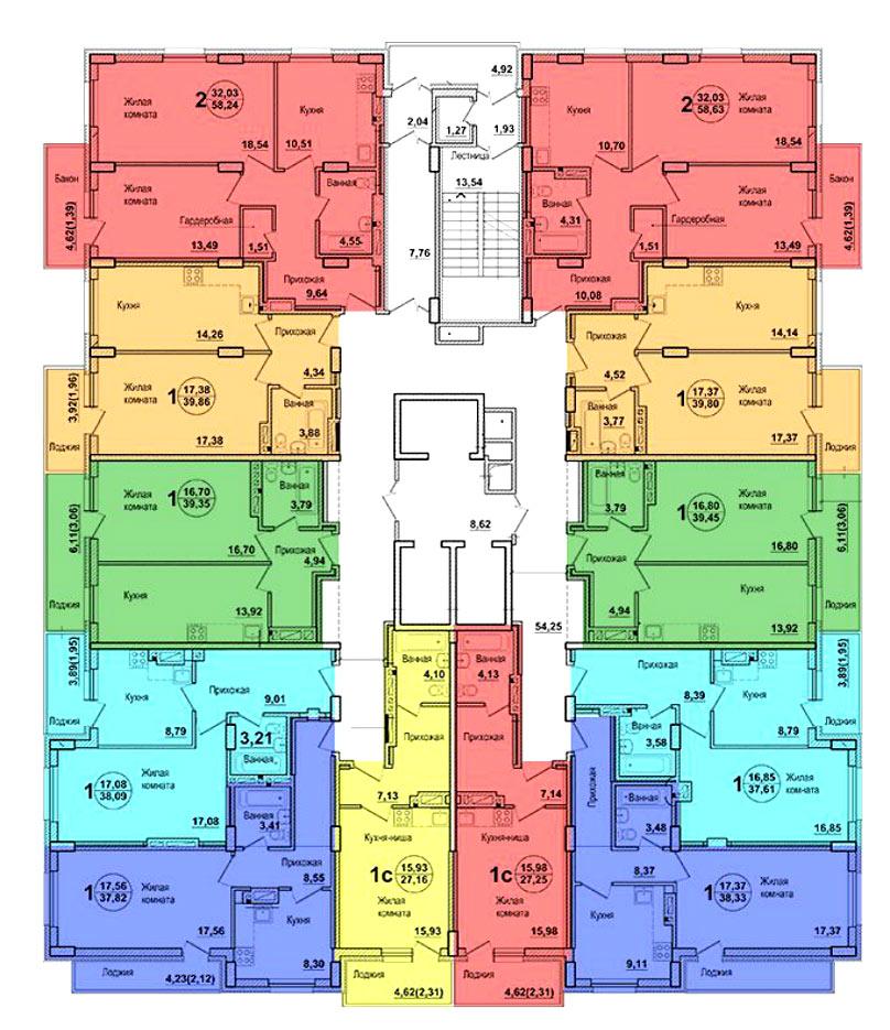 Оловозаводская, 6/1 (6 стр), общий план этажа