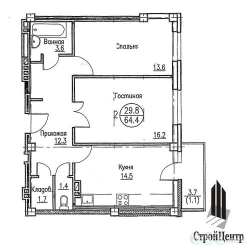 Гоголя, 51, планировки 2-комнатных квартир