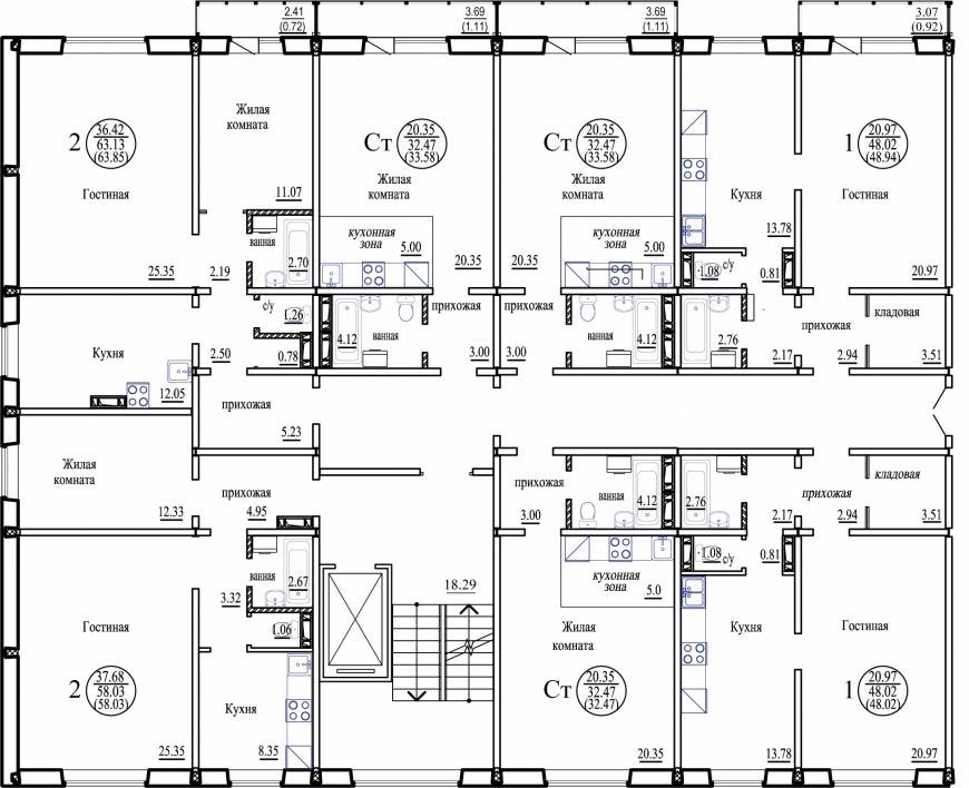 Бронная, 30, общий план этажа