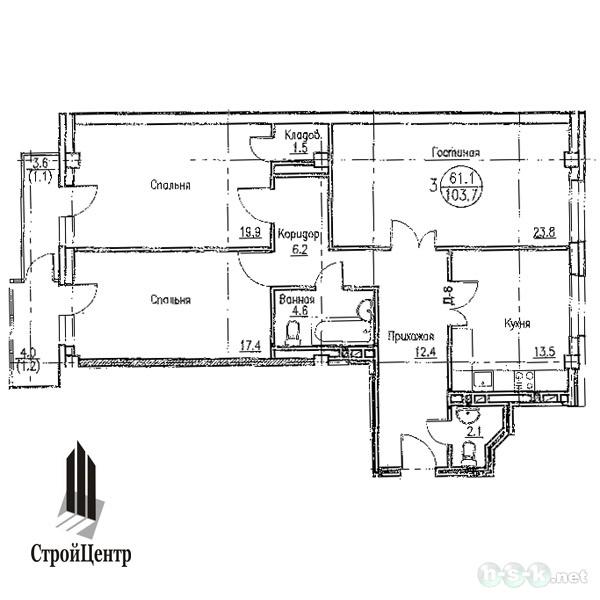Гоголя, 51, планировки 3-комнатных квартир