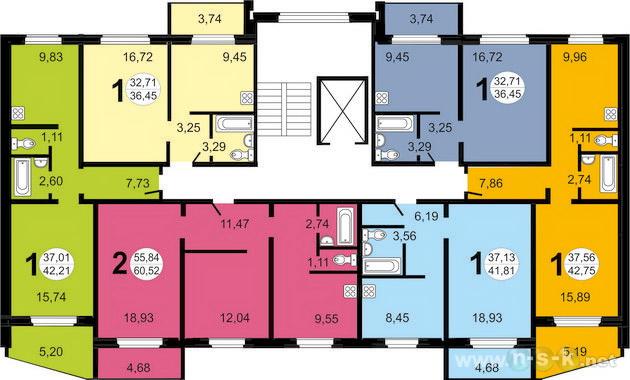 Спортивная, 3 (Титова, 2 стр), общий план этажа